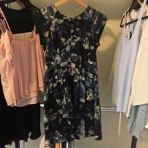 Rebecca Taylor Satin Short Sleeve Dress Size 2